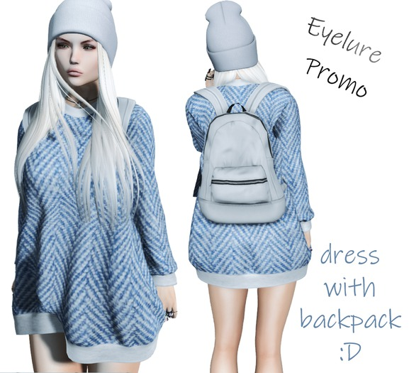Eyelure Top w/ Backpack    Denim/Gray Pack   STORE PROMO!
