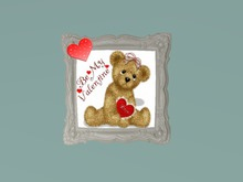 Be My Valentine..Animated Teddy Picture