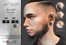 i.mesh - Beard#7 black/grey - BENTO beard + CATWA/OMEGA applier