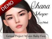 "Ohana Shape ""Genus Project Head W001 Baby Face"" Demo"