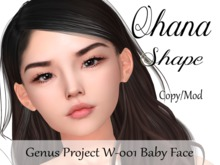 "Ohana Shape ""Genus Project Head W001 Baby Face"""
