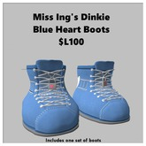 Miss Ing's Dinkie Blue Heart Boots Boxed
