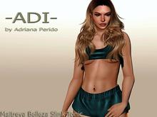 GIFT 1 L-ADI-Luna top and booty shorts Turquoise Maitreya Belleza Slink Tonic