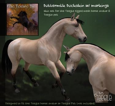 Teegle Texture Pack - Buttermilk Buckskin  - Texture Barn