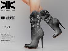 Charlotte :: Ankle Boots :: Black :: {kokoia}