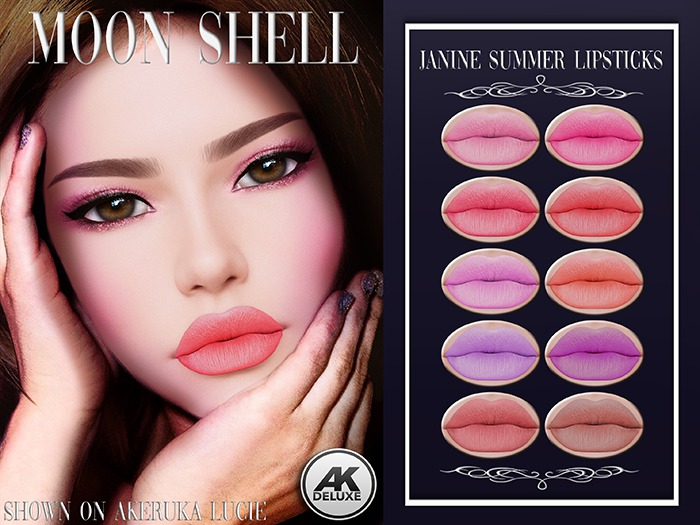 Moon Shell Janine Summer Lipsticks Applier Akeruka
