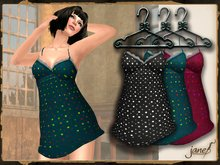 JANE -  speckles night dress.greedy pack