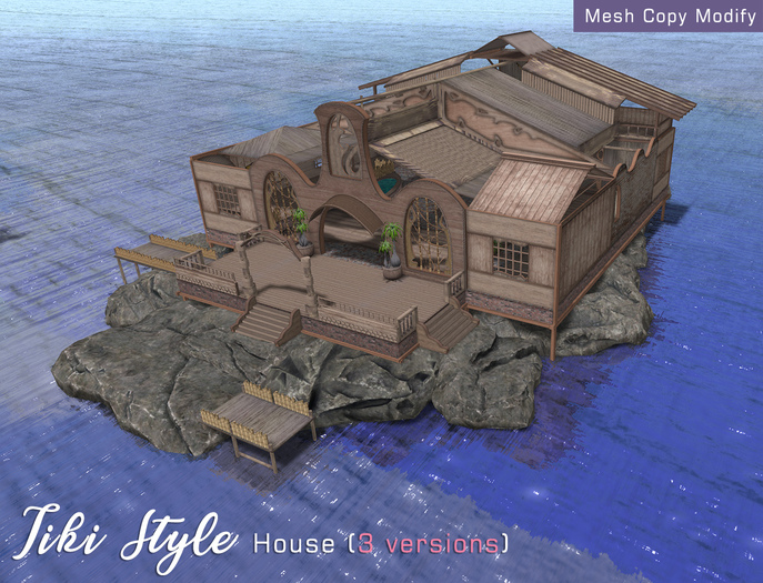 Casa Diabolica Tiki Style House (3 versions)