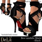 """=DeLa*= Sandal """"Marie"""" Black"""