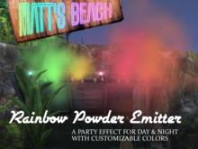 Matt's Beach - Rainbow Powder Emitter
