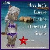 Miss Ing's Dinkie Purkle Flowered Bikini Set