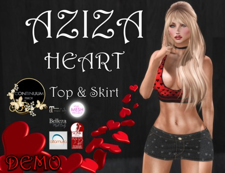 Continuum Aziza Heart Outfit - GIFT