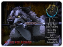 .:C:. KZK Dire Wolf - Sif The Great Gray Wolf Inspired Mod