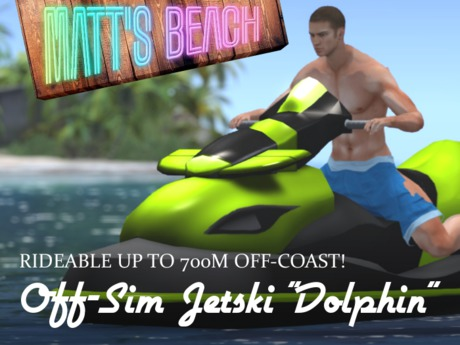 OFF-SIM RIDEABLE Jetski - up to 700m from shore!