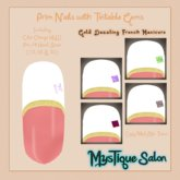 MysTique Prim Nails - Gold Dazzling French Manicure w Tintable Gems