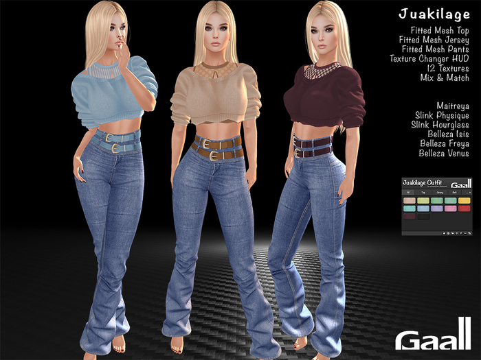 Gaall Juakilage Outfit - 12 Textures Fatpack