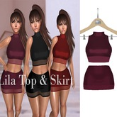 Lun'Atic lila top&skirt cherry Maitreya