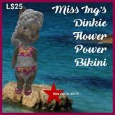 Miss Ing's Dinkie Flower Power Bikini Set