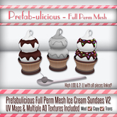 Prefabulicious Full Perm Mesh Ice Cream Sundaes V2