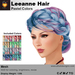 A&A Leeanne Hair Pastel Colors V2, mesh updo with braided sides & intricate low bun, low complexity