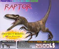 """RAPTOR"" VELOCIRAPTOR {GENETIC EDITION}  ~ Bento Mesh Dinosaur Avatar ~ Prehistorica the Dawn Kingdoms ~"