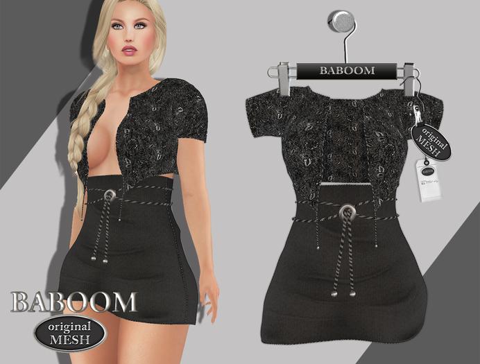 Baboom-Lenia-dress-Originalmesh-Black
