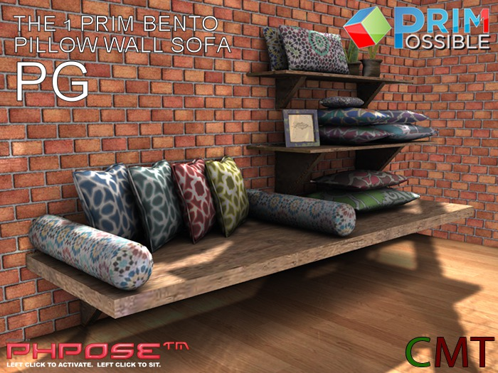1 Prim BENTO Mesh Pillow Wall Sofa PG COPY