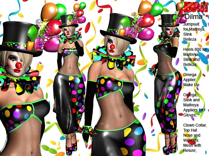 **DILMA V2 CLOWN STYLE COMPLET OUTFIT **