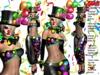 Dilma clown style carnival theme costume