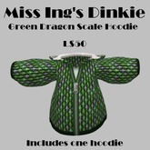 Miss Ing's Dinkie Green Dragon Scale Hoodie Boxed