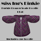 Miss Ing's Dinkie Purkle Dragon Scale Hoodie Boxed