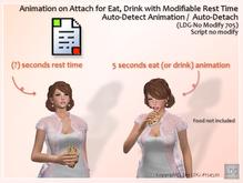 LDG-No Modify 705 Animation on Attach for Eat, Drink / Modifiable Rest Time / Auto-Detect /  Auto-Detach / Builderkit
