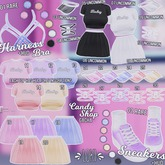 10.UNCOMMON Loki - Candy Shop GACHA - White Heart Garter - Mait