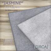 "[CIRCA] - ""JASMINE"" - Area Rug Set of 2 - White & Grey"