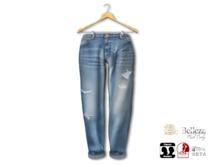 {amiable}Mesh Roll-up Loose Wash Denim Pants02-2