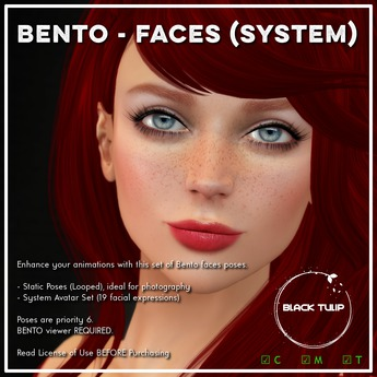 [Black Tulip] Poses FP - BENTO Default Facial Expressions