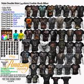 AmAzInG CrEaTiOnS Male Double Shirt (44 shirts) Gothic-Rock-Bik