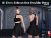[S] Chelsi Sidecut One Shoulder Dress Black