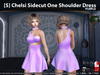 [S] Chelsi Sidecut One Shoulder Dress Purple