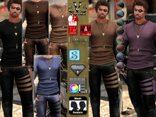 V-Twins Biker Clothes - Housebreaker Casual Outfit **MESH (Mesh Body Compatible)