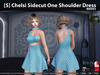 [S] Chelsi Sidecut One Shoulder Dress Waves