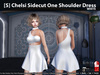 [S] Chelsi Sidecut One Shoulder Dress White