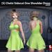 s  chelsi sidecut one shoulder dress green ad