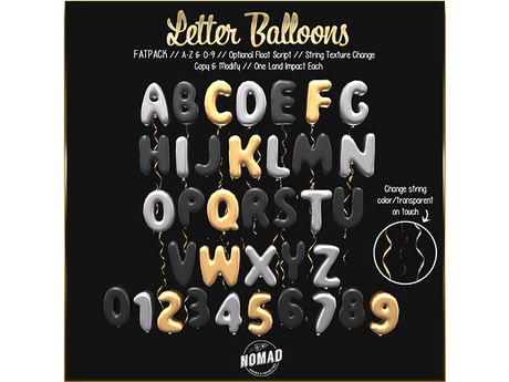 NOMAD // LETTER BALLOONS // FATPACK