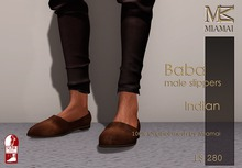 Miamai_Baba Slippers Indian - male (Slink Flat)