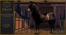 Cheval D'or - Animesh Decor - Friesian Horse.