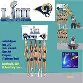 Superbowl 53 2019 LA Rams party favors-crate