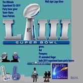The Ultimate Superbowl 53 party favor giver both trams-crate