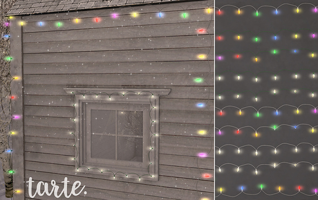 tarte. christmas lights