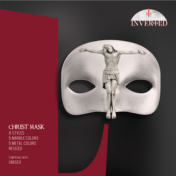+INVERTED+ Christ Mask -Leather White-
